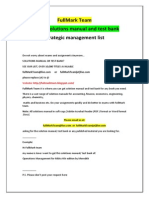 Strategic Management Test Bank and Solutions Manual