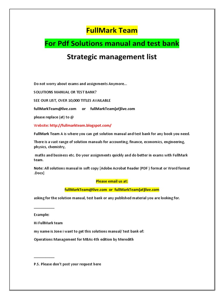 strategic management test bank and solutions manual test rh scribd com Blogspot.com Real Rainbow Blogspot.com Home