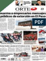 Periódico Norte edición impresa del día 23 de mayo del 2014