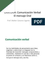 ORATORIA Comunicacion Verbal Oral