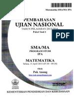 Pembahasan Soal UN Matematika Program IPA SMA 2014 Paket 1 (Full Version)