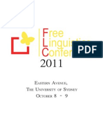 Free Linguistics Conference 2011 - Program