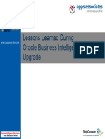 A11 Lessons Learned During Oracle Business Intelligence 11g