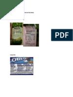 etiketas nutricionales