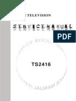 CHINA TS2416 - TDA8377 , LA78045 , KA5Q1265 - TV SM