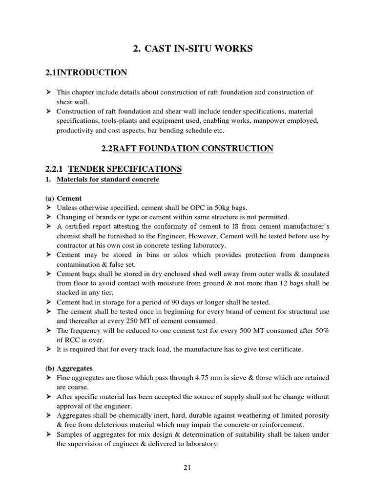 RAFT Foundation f | Concrete | Construction Aggregate