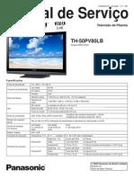Panasonic Th-50pv80lb Chassis Gph11da Plasma