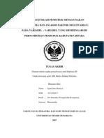 Proyeksi Jml Penduduk Dg ARIMA