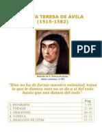 Libro acerca de Santa Teresa de Avila  Por Paginas
