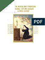 Libro acerca de Santa Rita de Cascia . DOC