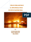 Analysis of Steel Sector in India_udayam Singh_13 06 2012