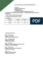 Kepsa Cv Format