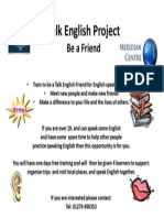 Flier for Talk Englsih Friends