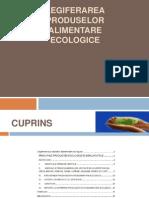 Legiferarea Produselor Alimentare Ecologice