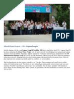School Water Project – CSR – Laguna Lang Co