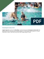 Swimming for Safety 2014 – CSR – Laguna Lang Co
