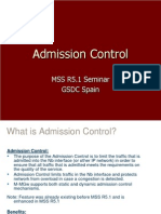 Admission Control Introduction