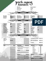 Assamite Warrior Editable Character Sheet