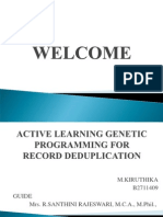 Active Learning Genetic Programming for Record Deduplication