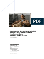 Supplementary Services Features for FXS Ports