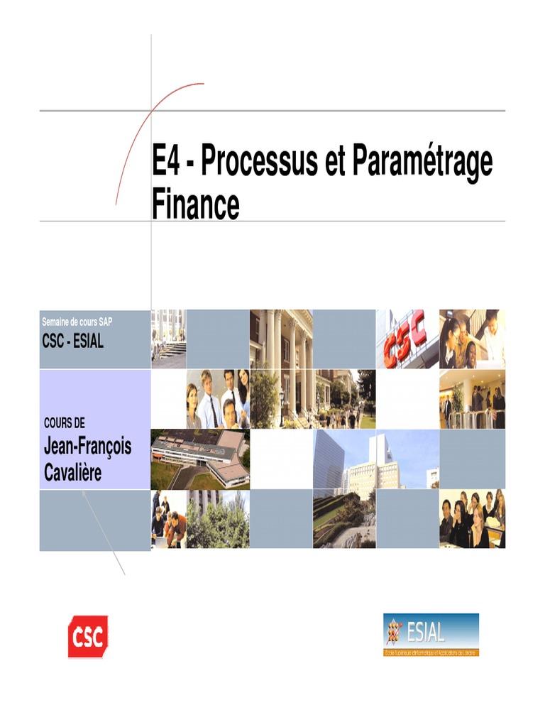 e4 processus et param u00e9trage finance
