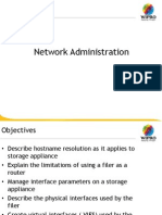 Netapp storage Network Administration