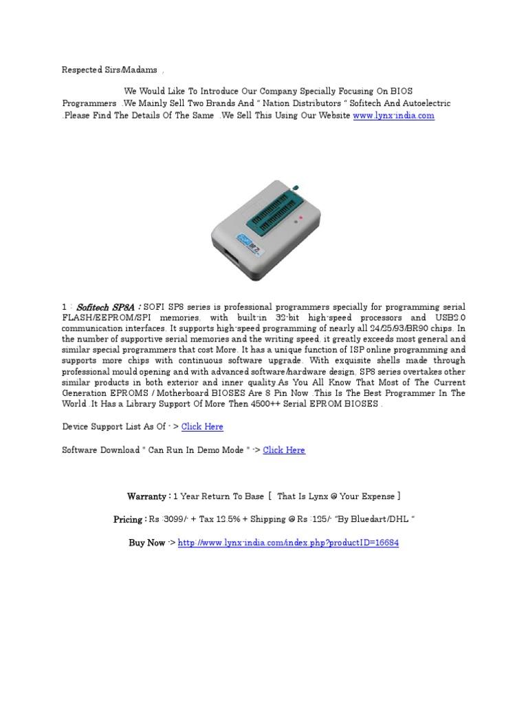 Adaptadores Del Programador TL866A   Bios   Electronic Design