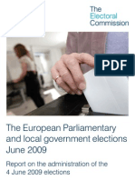 The European Parliamentary and local government elections June 2009