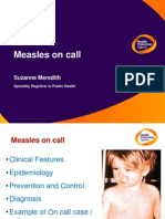 1360574312 KwKm Presentation - Measles on Call by Suzanne Meredith