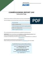 Commissioning Report Alcad 24V