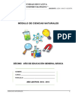 Impreso Ciencias Naturales 10mo Año 2014-2015