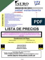 Lista de Precios Tauro Mail PDF 2014-02-04 Xls