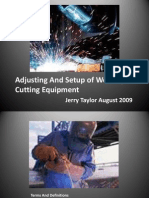 Adjusting and Setup of Welding & Cutting Equipment
