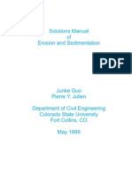 Solutions Manual of Erosion Aand Sedimentation