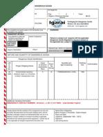 Shipper's Declaration - Model