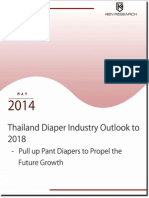 Thailand Diaper Industry Outlook to 2018 - Pull up Pant Diapers to Propel the Future Growth