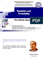 01 Statistics Week Generalities