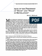 A Critique of the Preterist View of Soon and Near in Revelation