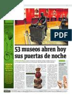 53 Museos Abren Hoy Sus Puertas de Noche