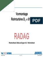 VATECH HYDRO ANDRITZX BULB Albbruck Bulb Turbine Erection_Andritz