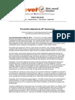 2014-05-23 HenrySchein Pressrelease ProVet-Anniversary I