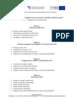 Program Szkolenia Cnc - Komputerowe Sterowanie Urzadzen Numerycznych - Poziom Podstawowe