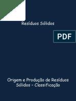 Resíduos Sólidos 2014 Aulas 1 e 2