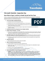 TraceGains Inspection Day FDA Audit Checklist