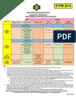 Kalendar Peperiksaan STPM 2015