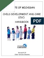 State of Michigan Child Development and Care (CDC) Handbook