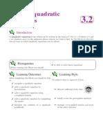 Chapter 2 - Advance Quadratic Equations
