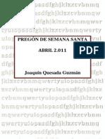 Pregón Semana Santa 2011