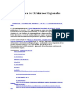 Ley 27867 - Ley Organica de Gobiernos Regionales