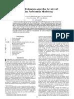 Adaptive Estimation Algorithm for Aircraft Engine Performance Monitoring (1)